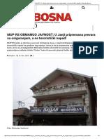 MUP RS OBMANUO JAVNOST_ U Janji Pripremana Prevara Sa Osiguranjem, A Ne Teroristički Napad! _ Slobodna Bosna