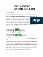 Diferencia Entre Procesador Intel Hq u k p s