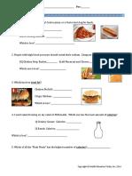 food label scav hunt short version