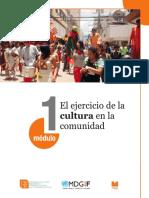 Modulo 1 - El ejercicio de la cultura en la comunidad
