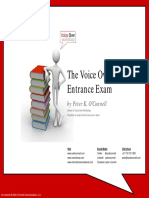 The Voice Over Entrance Exam by Peter K OConnell Copyright 2009