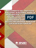 03 - Reglamento Del INE Para La Designación y La Remoción de Las y Los Consejeros Presidentes y Las y Los Consejeros Electorales de Los Organismos Públicos Locales Electorales
