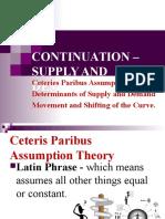 Ceteris Determinants Changes
