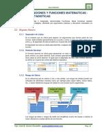 Unidad v Funciones y Funciones Matematicas Estadisticas