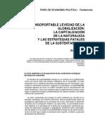 Sustentabilidad Globalizacion Capitalizacion Naturaleza y Estrats.fatales Sustent. E.leff 2000 13746