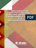 05 - Reglamento Del INE en Materia de Transparencia y Acceso a La Información Pública