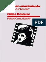 Biblioteca Virtual Deleuze La Imagen Movimiento Estudios Sobre Cine