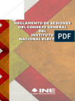 10 - Reglamento de Sesiones Del Consejo General Del INE
