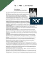 Krishnamurti, Su Vida y Su Enseñanza