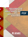 13 - Reglamento de Sesiones de La Junta General Ejecutiva Del INE