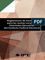 14 - Reglamento de Sesiones Para Las Juntas Locales y Distritales Ejecutivas Del INE