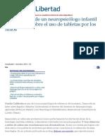 Diez Consejos de Un Neuropsicólogo Infantil a Los Padres Sobre El Uso de Tabletas Por Los Niños - ReL