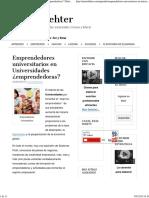 Emprendedores Universitarios Mario Dehter