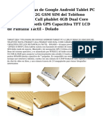 Jeja 7 Pulgadas de Google Android Tablet Pc 4.2 Jelly Bean 2g Gsm Sim Del Telefono Movil Phablet Call Phablet 4gb Dual Core Camara Bluetooth Gps Capacitiva Tft Lcd de Pantalla Tactil - Dolado