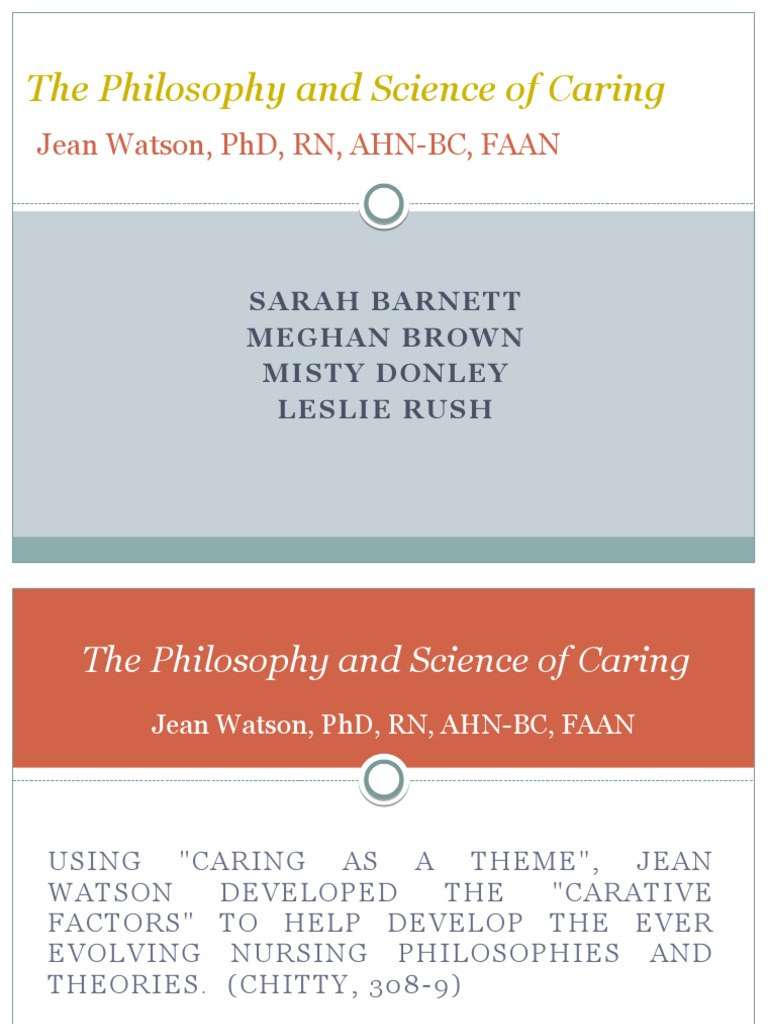 jean watson philosophy and science of caring