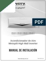 Inverter 1 y 1.5 TR Manual de Instalación