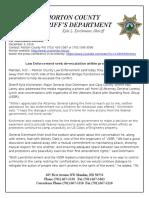 3Dec 16 Press Release LE Seeks de-escalation (1)