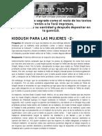 KIDDUSH PARA LAS MUJERES -2- _ Halajá Diaria Según La Opinión de Marán Rabí Ovadiá Yosef ZT_L