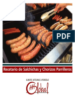 Salchichas Chorizos Parrilleros