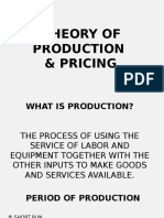 Theory of Production and Pricing