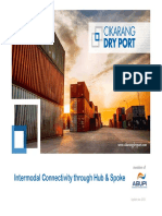 Intermodal Connectivity Through Hub & Spoke, Expanding Seaport Reach to Hinterland - Benny Woenardi