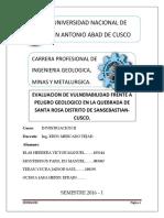 1_evaluacion de Vulnerabilidad Frente Al Peligro Geologico en La Quebrada de Santa Rosa-sansebastian