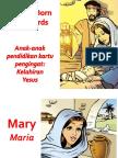 Anak-Anak Pendidikan Kartu Pengingat Kelahiran Yesus - My First Words Jesus is Born