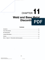 Weld and Base Metal Discontinuities