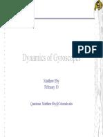 Dynamics of Gyroscopes