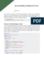 Entendiendo el paso de variables a métodos en C# con ref, params y out.