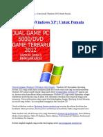 Cara Menginstal Windows Xp