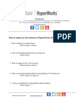 How to Apply for the License of HyperWorks Student Edition V14_2016