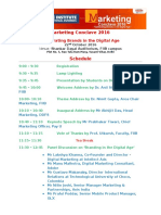 Marketing Conclave 2016 Schedule