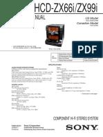 Manual Sony Hcd-zx66i