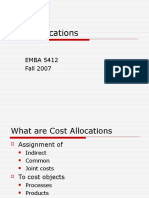 Cost Allocations EMBA 5412