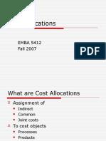 Cost Allocations EMBA 5412