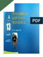 PPT Pengambil Keputusan Manajerial [TM13]