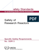 IAEA SSR-3 - Safety of Research Reactors