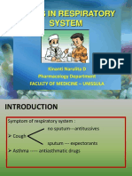 Drugs in Respiratory System