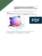 Parametrización de Una Curva Sobre La Superficie Esférica.