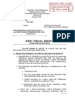 sample pre trial brief