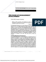 1992. Ten Faces of Management Development