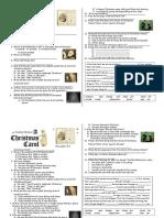 A Christmas Carol Video Comprehension Worksheet