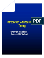 Introduction to NDT