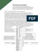 IUPAC Rules for Nomenclature