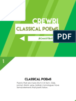Classical Contemporary Poems