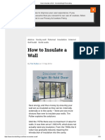 How to Insulate a Wall - Homebuilding & Renovating