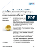 Goldreport 2015 – In GOLD we TRUST