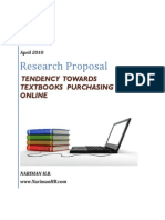 TENDENCY TOWARDS TEXTBOOKS PURCHASING ONLINE(Research Proposal)