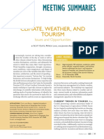 Climate, Weather, And Tourism